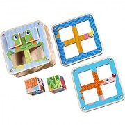 HABA Cubes Puzzle Garden Animals - 6 Different Block Puzzles for Ages 2 and Up