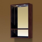 Oglinda baie cu iluminare Sanotechnik Fantasy 40 x 67.5 | nuc