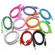 USB kabel na nabíjení mobilu ozdobný se vzorem, Barva Fialová