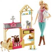 Barbie Farm Veternarian Doll & Playset by Mattel