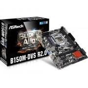 Placa de baza ASRock B150M-DVS R2.0, B150, DualDDR4-2133, SATA3, DVI, D-Sub, mATX