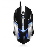 Airfox FOX KING - Ergonomic Wired Gaming Mouse - 3 200DPI Sensor Blue LED - Comfortable Grip - High Quality Popular Gaming Mouse