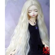 Tita-Doremi Peluca BJD SD MSD Minifee MDD DZ DOD LUTS Dollfie Blonde Doll Toy Head Wig Hair 1/4 7-8 inch 18-19cm (Peluca solamente, no una muñeca )