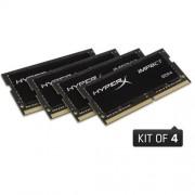 Kingston 32GB DDR4-2400MHz SODIMM CL15 HyperX Impact (4x8GB)