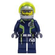 Agent Fuse (Helmet) - LEGO Agents Minifigure