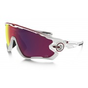 Oakley Jawbreaker polished white/prizm road Brillen & Goggles
