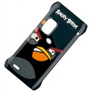 Nokia Custodia Originale Rigida Hard Cover Case Cc-5001 Per E7 Agry Bird Black Dird