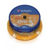 DVD-R 25 buc./cutie VERBATIM Matt Silver