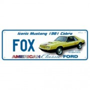 """Novelty Number Plate - Ford Mustang 81 Cobra Fox Body"""