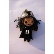 Black Beard Pirates Of The Caribbean Voodoo String Doll Keychain New