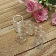 4PCS Transparent Goblet Red Wine Cups Set Dolls House Miniature Dining Room