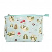 Spring Forest Owl Make Up Bag