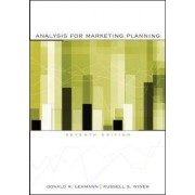 Analysis for Marketing Planning by Donald R. Lehmann