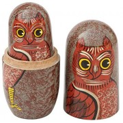 Cute Gifts for Mom 5 pcs - SouvNear Set of 5 Nesting Wooden Dolls with Owl Theme - Hand-Painted Stacking Nested Wood Toys - Kids Toys & Games