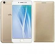 AVICA™ Premium Leather Flip Case Cover For Vivo V5 - GOLD