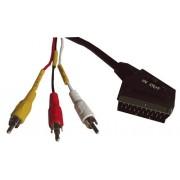 Kabel Scart - AV z przełącznikiem