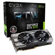 EVGA GeForce GTX 1070 8GB FTW GAMING ACX 3.0, w/ Adjustable RGB LED Graphics Card 08G-P4-6276-KR