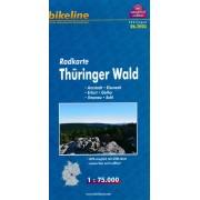 Fietskaart TH03 Bikeline Radkarte Thüringer Wald   Esterbauer