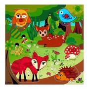 Hess 14903 - Bambino Maniglia Puzzle Forest Animals, in Legno