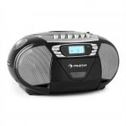 Auna KrissKross Lecteur CD-K7 portable USB MP3 CD -noir