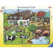 Puzzle familii de animale, 33 piese, RAVENSBURGER