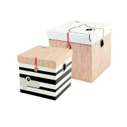 Square box set, 2 pcs., large Done by Deer