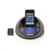 JBL On Time Micro Loudspeaker Dock and Clock Radio for iPod and iPhone Black