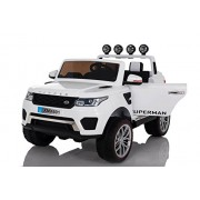 Baybee Range Rover Evoque Sport Battery Operated Car with Double Motor, Double Battery and R/C with 50Kg Weight Capacity (White)