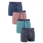 Mens Next Thin Stripe A-Fronts Four Pack - Blue