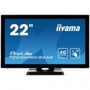 "Monitor touchscreen iiyama ProLite T2236MSC-B2AG, 21.5"", PCAP, negru"