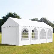 Profizelt24 Partyzelt 4x8m PVC weiß Gartenzelt, Festzelt, Pavillon