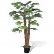 vidaXL Изкуствена палма в саксия 180 см