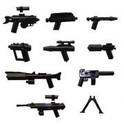 LEGO/Little Arms - 9 piezas del arma (rifles e accesorios)