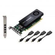 PNY VCQK1200DP-Pb - 4 Gb GDDR5, 128-bit, 80 Gb/s, 512 Gpu Processing Cores