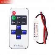 Led Controller 11key wireless DC5-24V mini dimmer RF remote control for single color led strip 5050 3528 high quality R