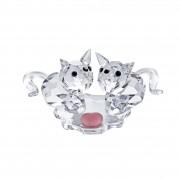 Figurina cristal Preciosa - Sweet Twosome Cats