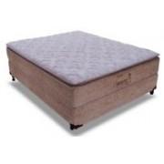 Conjunto Box Colchão Probel Pocket Supreme Látex + Cama Nobuck Rosolare Cafe - Conjunto Box King Size - 193 x 203