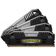 Corsair CMY32GX3M4C1600C9 Vengeance Pro Memorie DDR3L 32 GB, 4x8 GB, Low Voltage 1600 MHz, CL9 XMP, Nero