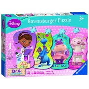 Ravensburger Doc McStuffins Helping Friends 4 Shaped Puzzles in a Box (10, 12, 14, 16 Piece)