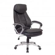 vidaXL Дизайнерски офис стол, кожен, директорски