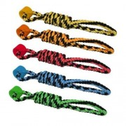Multi Pet Multipet Rope Tug with One Wheel Dog Toy, 18-Inch by Multipet International