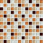Maxwhite ASHS240 Mozaika skleněná hnědá bílá 29,7x29,7cm