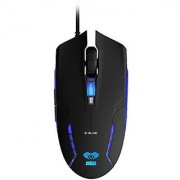 E-Blue Cobra II 1600 DPI Ergonomic Gaming LED Mouse with Bigger Scroll Wheel (EMS151BK)
