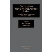 Cumulative Subject and Author Index, Including Tables of Contents Volumes 1-23: Volume 25 by R. N. Thurston