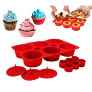 Cupcake stampo 8 cm per dolci muffin bigne' in silicone