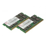 G.Skill DDR2 Series F2-6400CL5D-4GBSQ Dual Channel - DDR2 - 4 Go : 2 x 2 Go - SO DIMM 200 broches - 800 MHz / PC2-6400 - CL5 - 1.8 V - mémoire sans tampon - non ECC