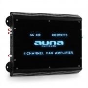 Amplificador coche Auna W2-AC400 4 canales LED. 4000 W.