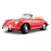 Bburago - 2043143 - Véhicule Miniature - Modèle À L'échelle - Porsche 356b Cabriolet 1961 - Rouge - Echelle 1/18