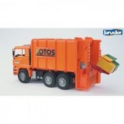 Bruder trasporto rifiuti man tga a carica posteriore 2762
