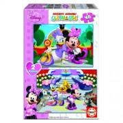Educa Disney Minnie egér puzzle, 2x48 darabos